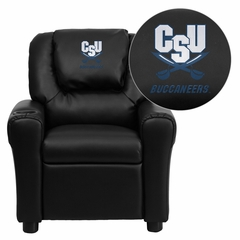 Charleston Southern University Buccaneers Black Vinyl Kids Recliner - DG-ULT-KID-BK-45006-EMB-GG
