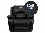 Charleston Southern University Buccaneers Leather Rocker Recliner - MEN-DA3439-91-BK-45006-EMB-GG