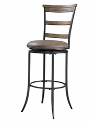Charleston Swivel (Ladder Back) Bar Stool - Hillsdale Furniture - 4670-832