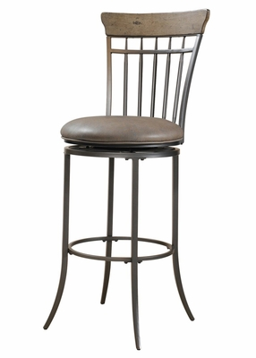 Charleston Swivel (Vertical Spindle Back) Bar Stool - Hillsdale Furniture - 4670-831