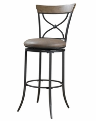 Charleston Swivel (X-Back) Bar Stool - Hillsdale Furniture - 4670-830
