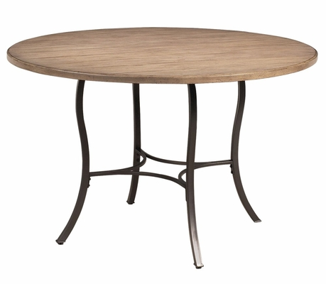 Charleston Wood and Metal Round Dining Table - Hillsdale Furniture - 4670DTB