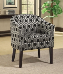 Charlotte Hexagon Patterned Accent Chair  - 900435