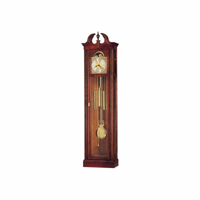 Chateau Grandfather Clock in Windsor Cherry - Howard Miller