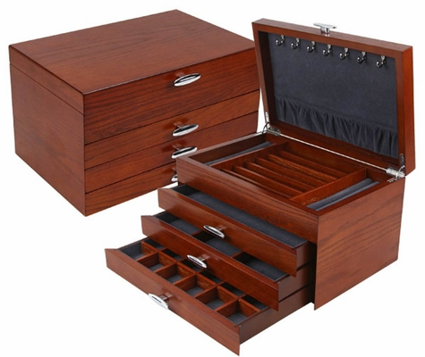Chateau-sur-Mer Jewelry Box in Dark Maple - JBQ-SA107