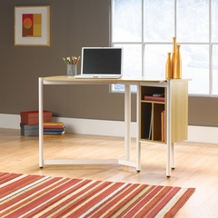 Chatter Studio Edge Desk Rice / White Oak - Sauder Furniture - 410958