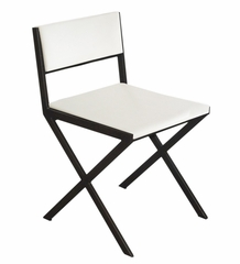Chee Dining Chairs in White (Set of 2) - Bellini Modern Living - CHEE-BS-WHT