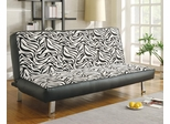 Chenille Sofa Sleeper with Fold Down Futon Seat Back - 300230