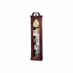 Cherish Curio Grandfather Clock in Cherry - Howard Miller