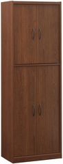 Cherry 4 Door Kitchen Storage Pantry - Ameriwood Industries - 5212091Y