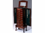 Cherry 7 Drawer Jewelry Armoire - Bernards