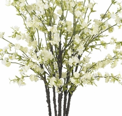Cherry Blossoms with Vase Silk Flower Arrangement - Nearly Natural - 1193-WH