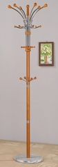 Cherry Coat Rack with Marble Base - Nata - 12269