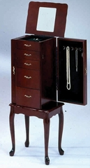 Cherry Jewelry Armoire - Bernards