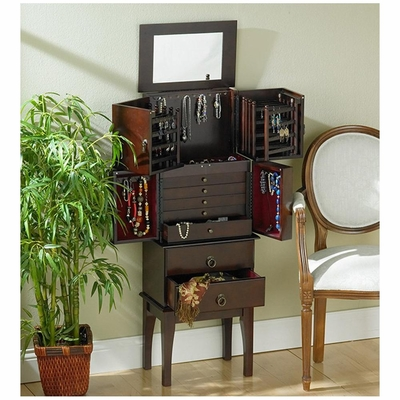 Cherry Jewelry Armoire - Holly and Martin