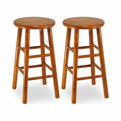 Cherry Kitchen Bar Stools - Set of 2 - Winsome Trading - 7528X