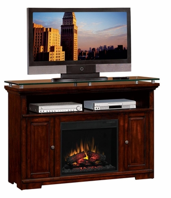 Cherry Media Mantel Electric Fireplace - 900375N