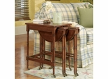 Cherry Nesting Tables with Brass Casters
