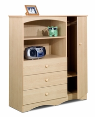 Chest - 1 Door / 3 Drawer Chifforobe - Alegria Collection - Nexera Furniture - 5608