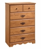 Chest - 5-Drawer Chest in Country Pine - South Shore Furniture - 3232035