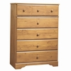 Chest - 5-Drawer Chest in Country Pine - South Shore Furniture - 3432035