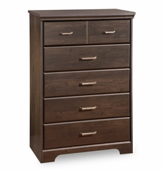 Chest - 5 Drawer Chest in Ebony - South Shore Furniture - 3177035