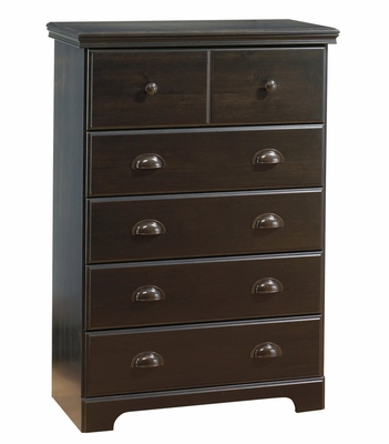 Chest - 5-Drawer Chest in Ebony - South Shore Furniture - 3877035