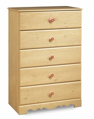 Chest - 5-Drawer Chest in Romantic Pine - South Shore Furniture - 3272035