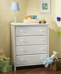 Chest - Four Drawer Chest in Pure White - South Shore Furniture - 3250034