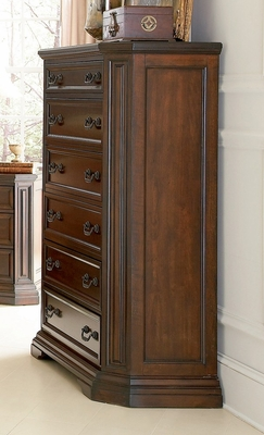 Chest - Foxhill Chest in Deep Cherry Brown - Coaster - 201585
