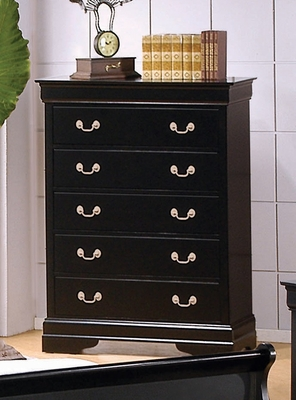 Chest - Louis Philippe Chest in Deep Black - Coaster - 201075