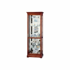 Chesterfield Curio Cabinet in Windsor Cherry - Howard Miller