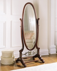 "Cheval Mirror - ""Heirloom Cherry"" - Powell Furniture - 998-773"