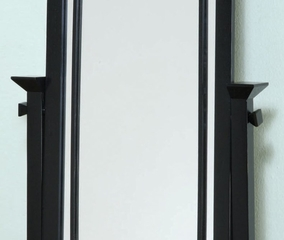 "Cheval Mirror - ""Mission Black"" - Powell Furniture - 295-773"