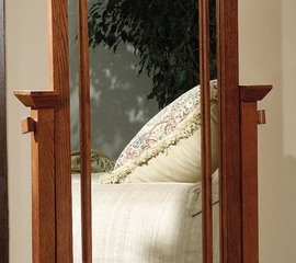 "Cheval Mirror - ""Mission Oak"" - Powell Furniture - 993-230"