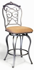 "Chintaly 26"" Swivel Counter Stool (Set of 2) - Chintaly Furniture - 0284-CS"