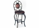 "Chintaly 26"" Swivel Memory Counter Stool (Set of 2) - Chintaly Furniture - 0727-CS"