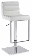 Chintaly Adjustable White Swivel Bar Stool (Set of 2) - Chintaly Furniture - 0830-AS-WHT