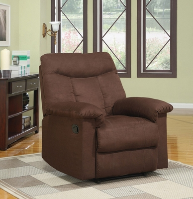 Chocolate Microfiber Recliner - Angus - 15130