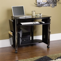 Chroma Computer Cart Black / Black / Black - Sauder Furniture - 409931