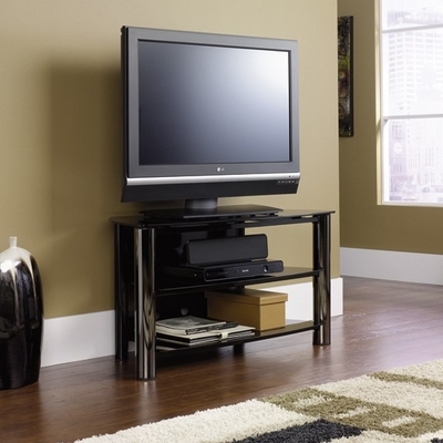 Chroma Panel TV Stand Black / Black - Sauder Furniture - 409929