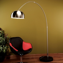Chrome Arch Lamp - LumiSource - LS-ARCH-FLR