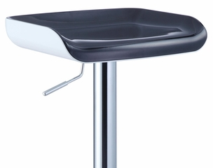 Chrome Bar Stool with White Bottom, Black Top Seat (Set of 2) - Powell Furniture - 211-729-SET