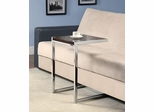 Chrome Snack Table with Cappuccino Wood Top - 900277