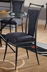 Cierra Dining Chairs in Black Fabric (Set of 2) - Hillsdale Furniture - 4592-806
