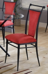 Cierra Dining Chairs in Flame (Red) Fabric (Set of 2) - Hillsdale Furniture - 4592-807
