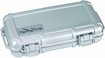 Cigar Caddy 3400 Travel Humidor in Silver - HUM-CC5-S
