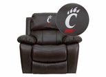 Cincinnati Bearcats Brown Leather Rocker Recliner - MEN-DA3439-91-BRN-40031-EMB-GG