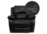Cincinnati State Technical & Community College Surge Leather Rocker Recliner - MEN-DA3439-91-BK-41017-EMB-GG