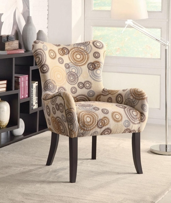 Circle Design Accent Chair with Nailhead Trimming - 902052